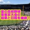 夏の高校野球東東京大会2018の日程と結果!優勝校予想と注目選手は?