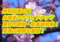 岸和田城の桜(まつり)2020ライトアップと屋台の時間・駐車場情報!見頃の時期も確認!
