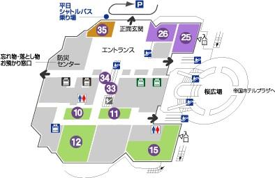 お花見トイレ案内-OAPフロア図1F