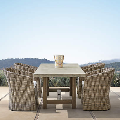 abaco dining table and dining chair crate and barrel