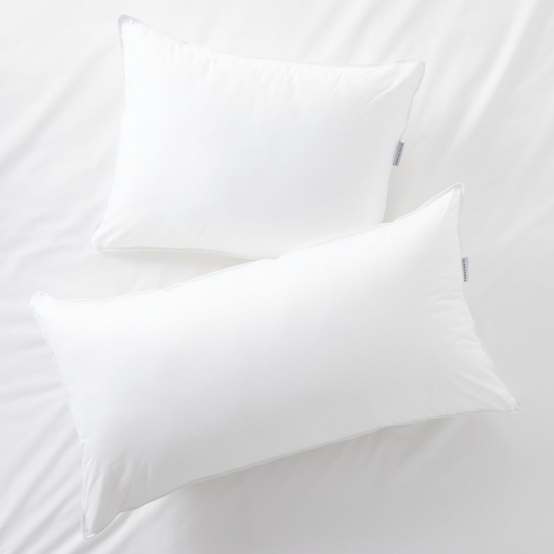 parachute down soft bed pillows crate and barrel