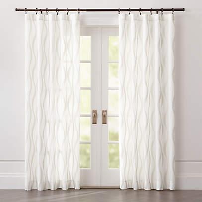 elester ivory sheer curtain panel