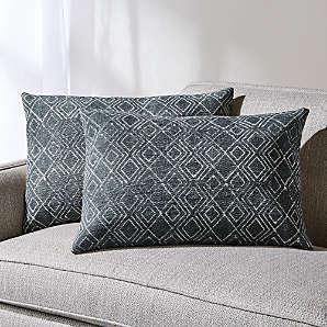 grey decorative pillows crate and barrel