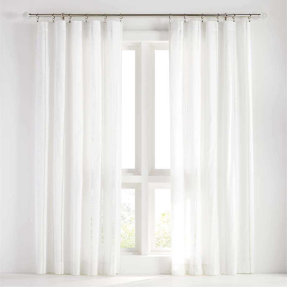 eyelet white curtain panel crate and