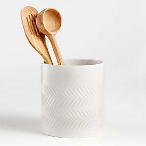 Kitchen Utensil Holders Ceramic Marble More Crate And Barrel Canada