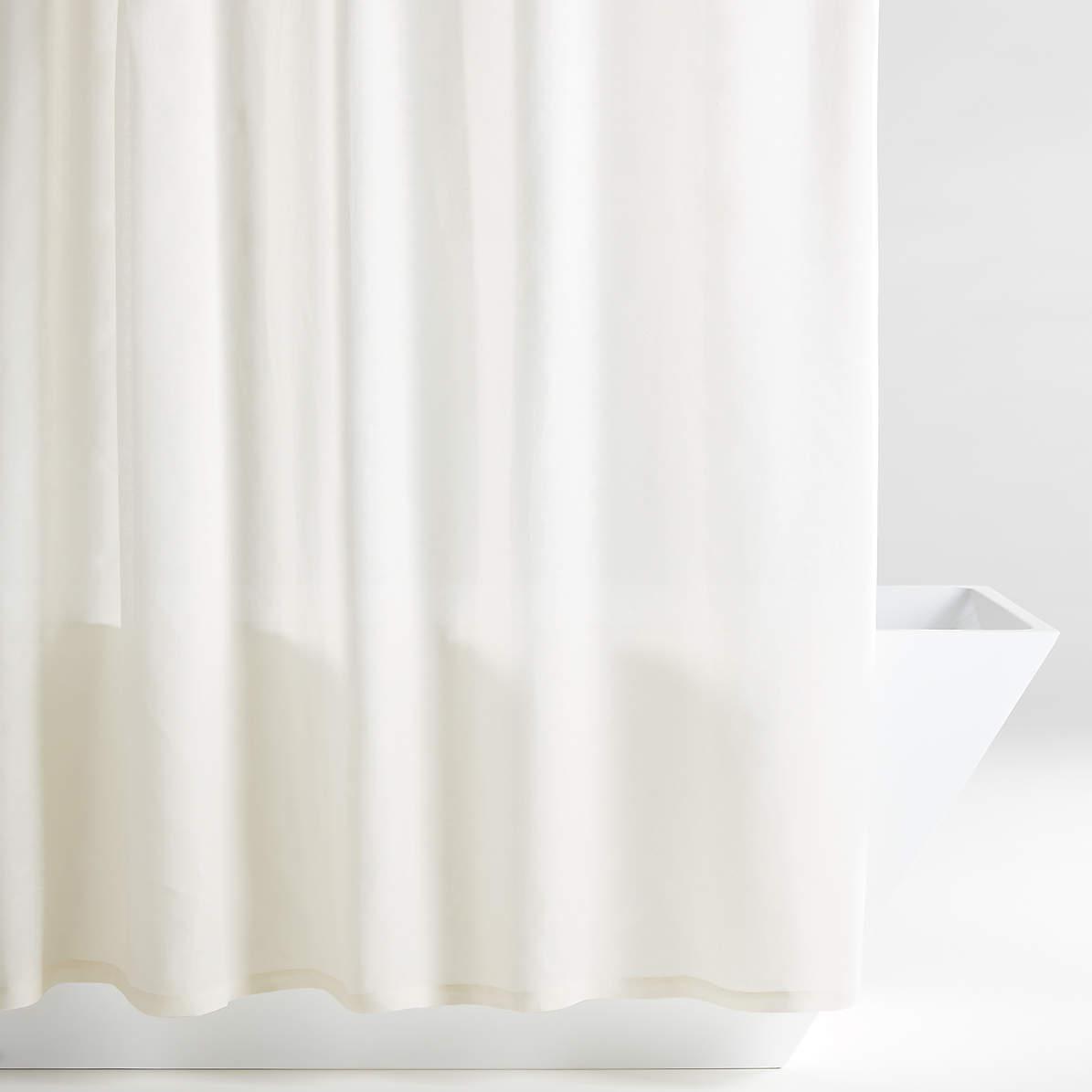 hemp natural shower curtain