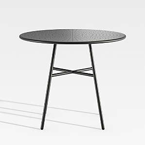 outdoor dining tables metal glass