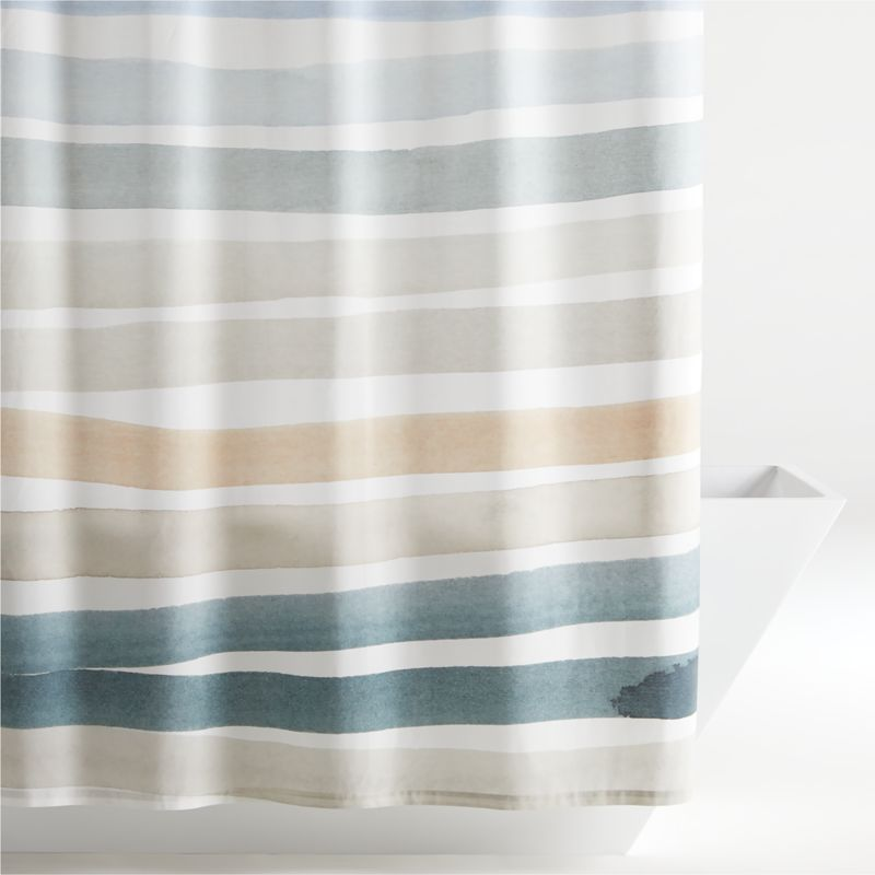 kasura stripe watercolor shower curtain reviews crate and barrel