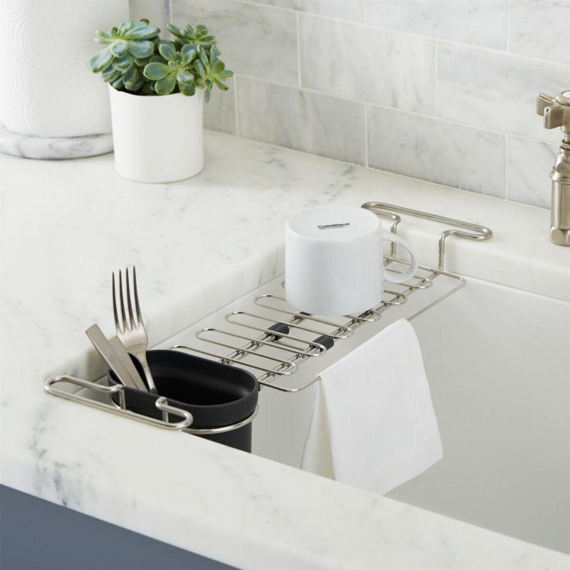 kohler sink utility rack reviews crate and barrel