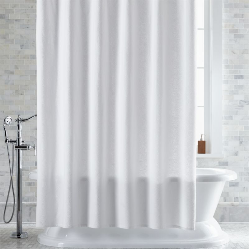 pebble matelasse white shower curtain reviews crate and barrel