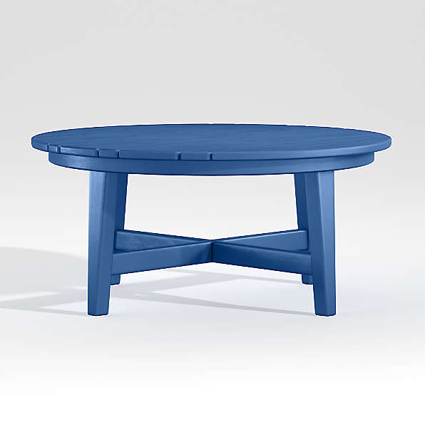 blue outdoor furniture crate and barrel