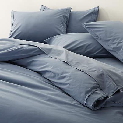set of 2 washed organic standard pillow