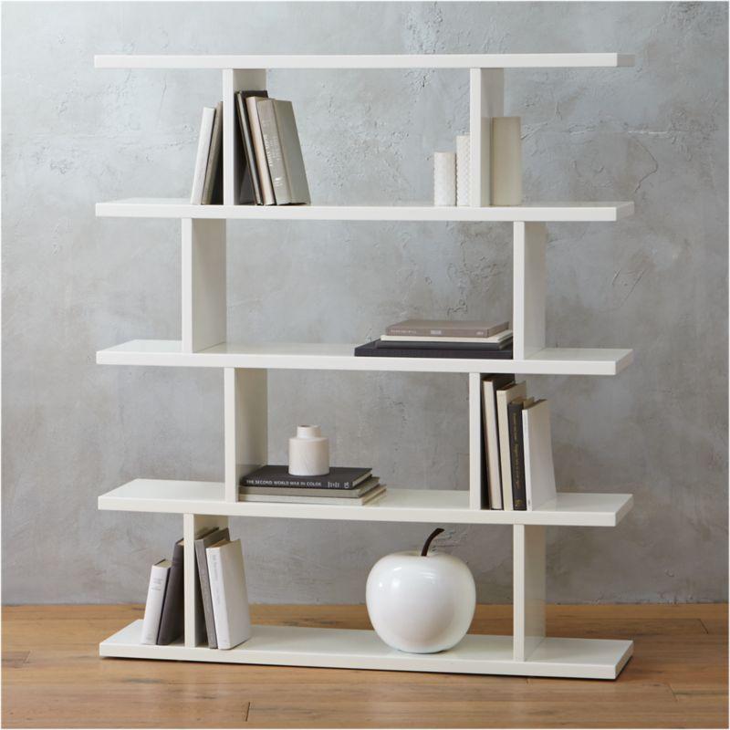 White Bookcases CB2