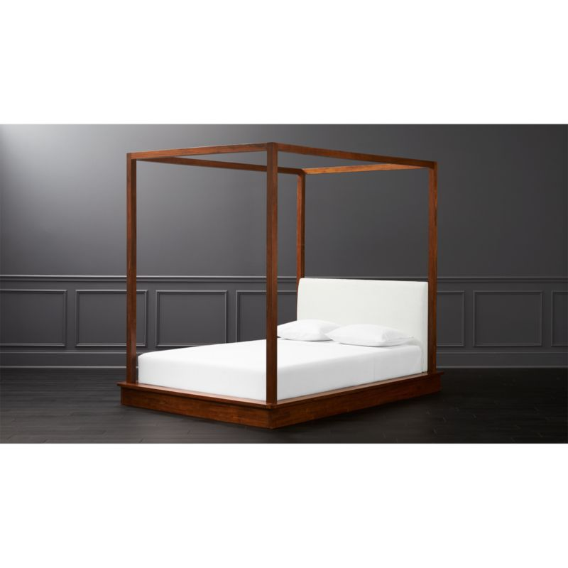 Bali Wood Canopy Bed Queen Reviews Cb2