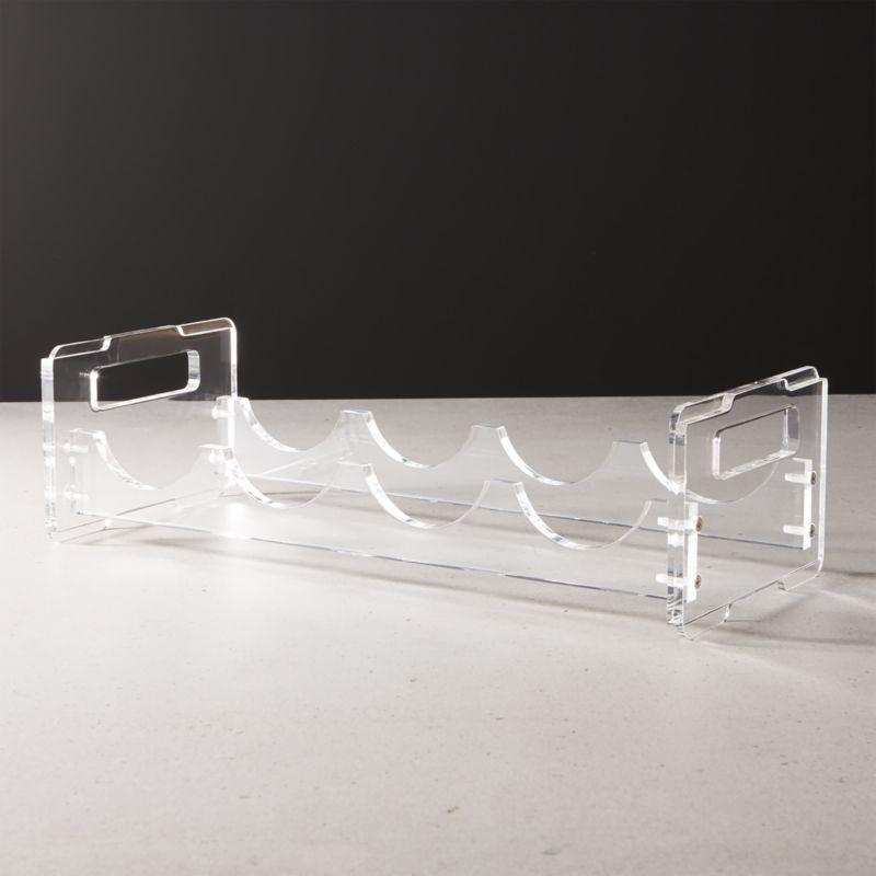 clear acrylic wine rack reviews cb2