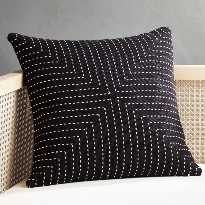 20 clique black pillow cb2