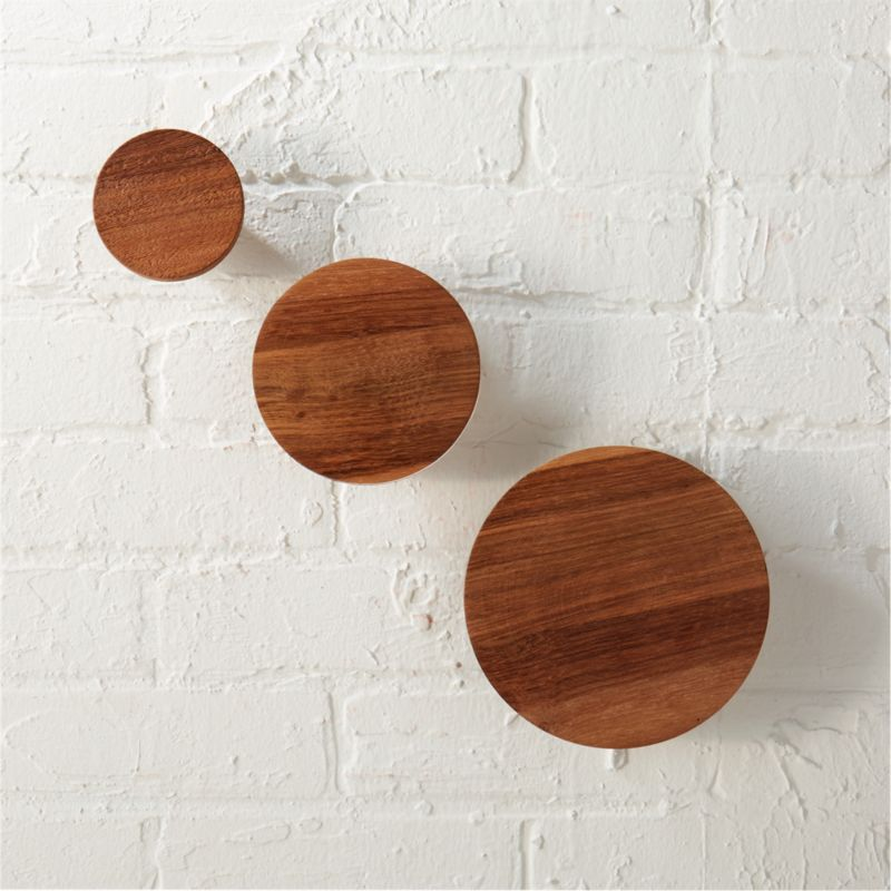 Designer coat racks with modern contemporary designs such as CB2 look very elegant and there are options in design material style pattern color and price. Set Of 3 Dot Coat Hooks Reviews Cb2