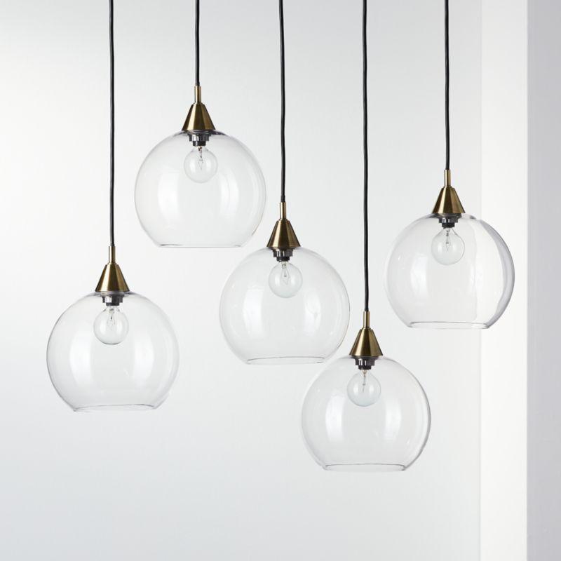 firefly 5 bulb brass pendant light reviews cb2