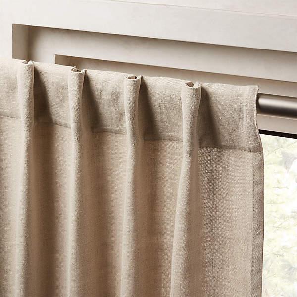 heavyweight natural linen curtain panel 48 x108