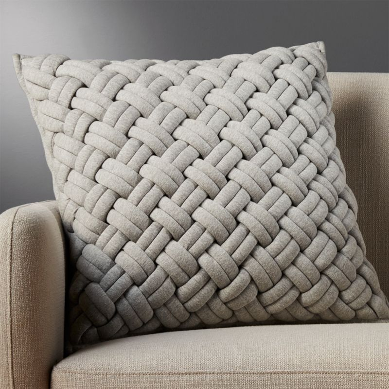 20 Jersey Interknit Grey Pillow CB2