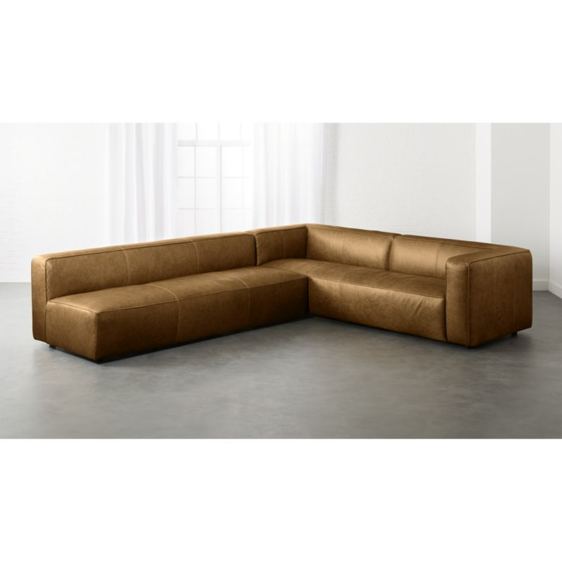 lenyx 2 piece leather extra large sectional