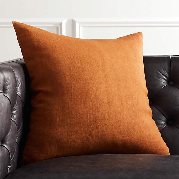 20 linon copper pillow cb2
