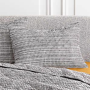 black pillow shams cb2