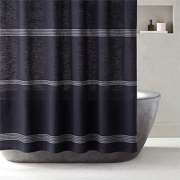 unique and modern shower curtains cb2