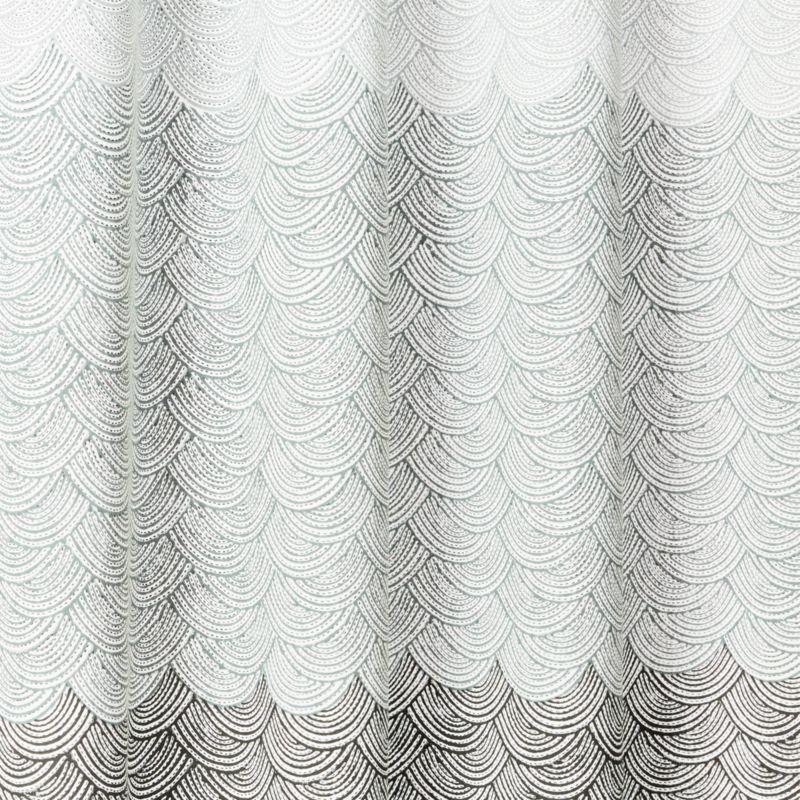scallop blockprint shower curtain 72 reviews cb2