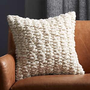 chunky knit pillows cb2