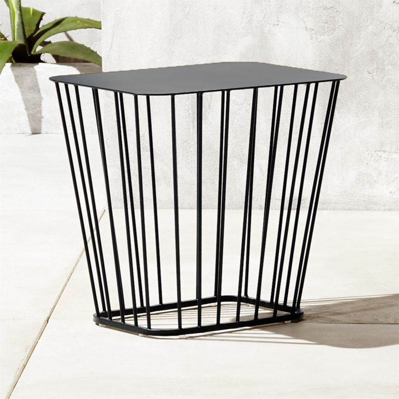 black wire side table cb2