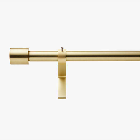 brass curtain rods and hardware cb2