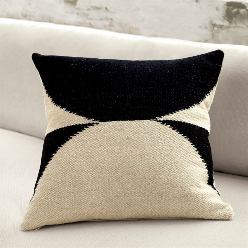 20 reflect graphic throw pillow cb2