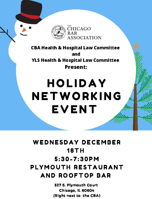 CBA 12.18 Networking Event Health and Hospital Law