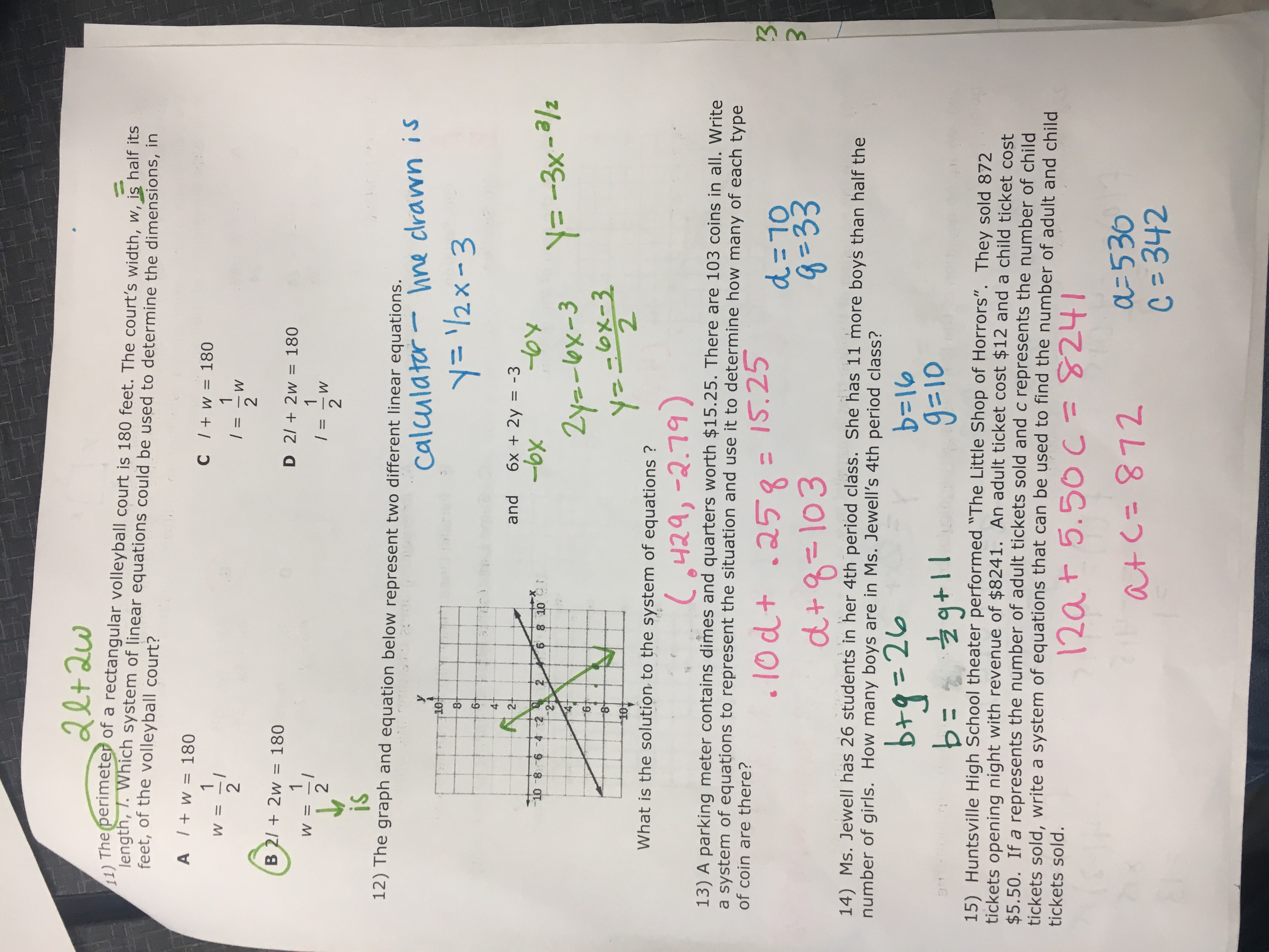 27 Linear Equations Review Worksheet Algebra 1