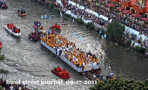 Modern day fluvial, the Pagoda is more bouyant, life guards on hand with safety and well-being of devotees and guests in good hands.