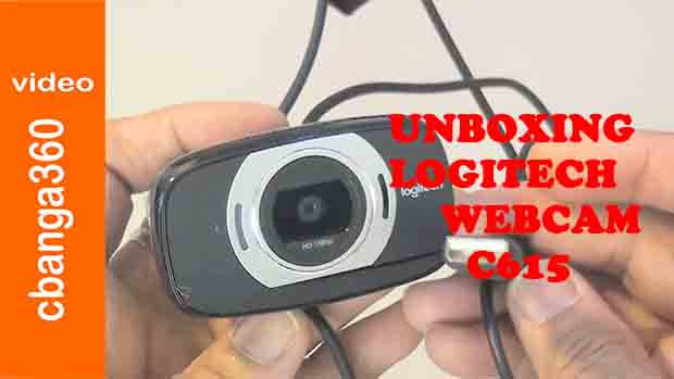 Watch unboxing of new Logitech webcam c615