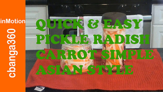 Watch Quick and Easy Pickle Radish and Carrot the simple Asian style
