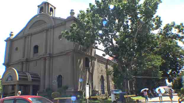 The Parish Church of Our Lady of La Porteria in downtown Calabanga