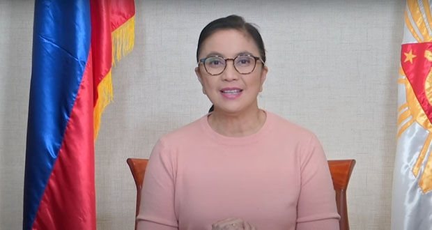 Watch Busy Vice President Robredo address the nation on Chinese coronavirus