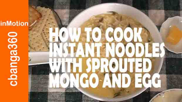 How to Cook Instant Spicy Noodles with Sprouted Mung Beans and Egg