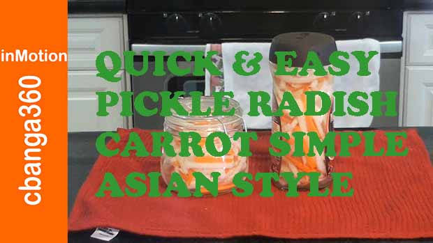 Pickle Radish & Carrot the Simple Easy Asian Style