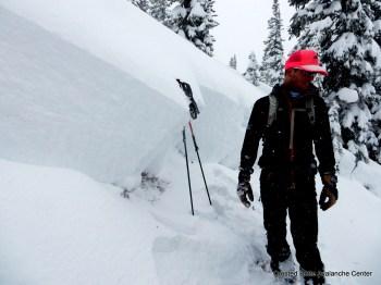 Natural persistent slab. Climax chutes