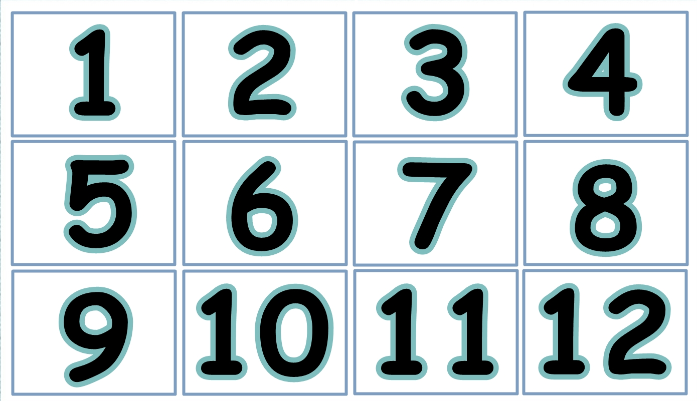 Numbers From 1 To 12