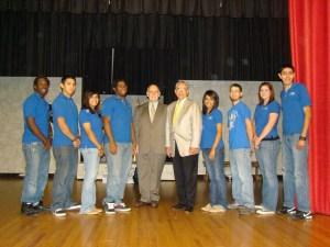 Congressman Hinojosa with CBC student ambassador