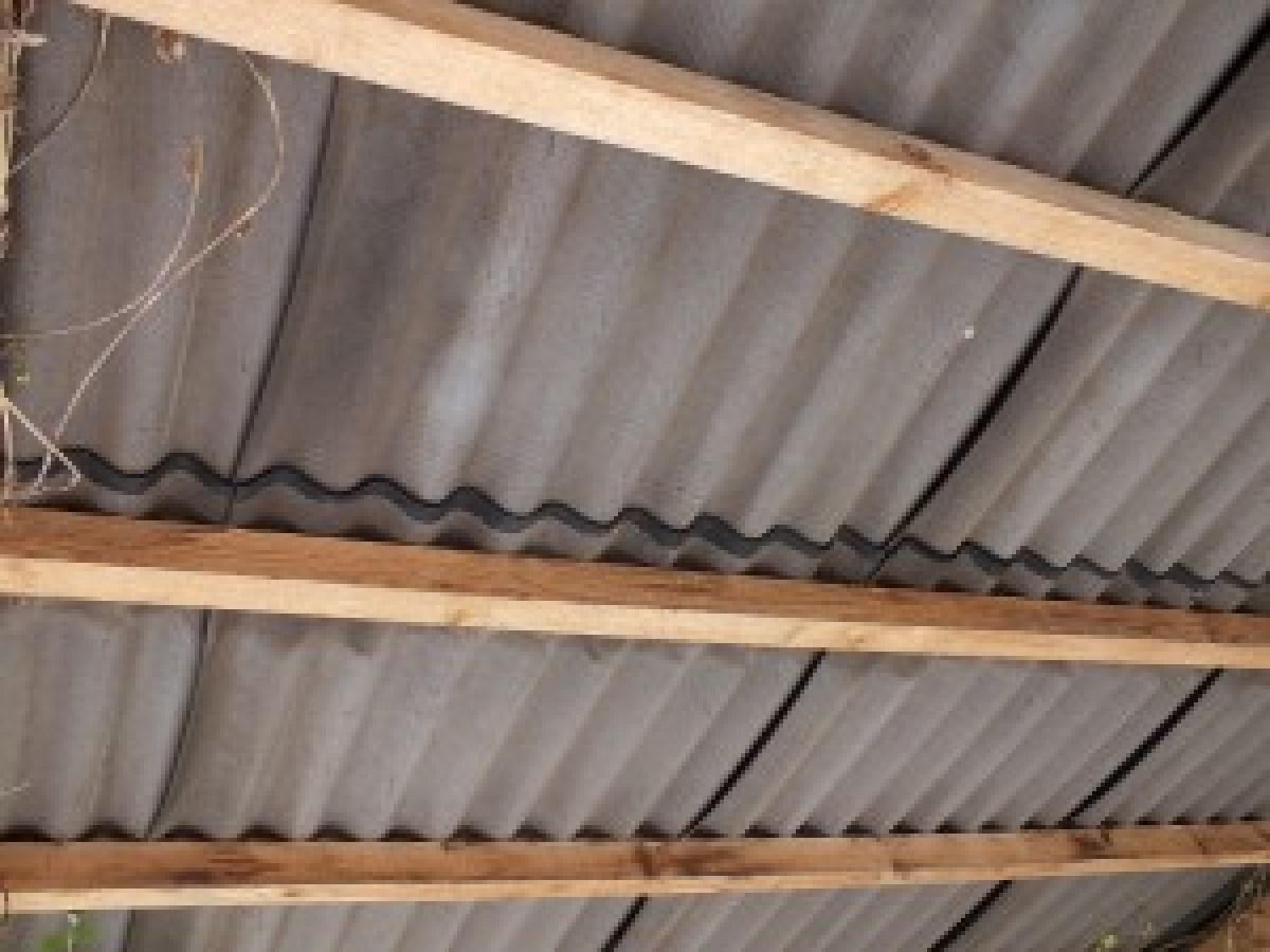 toiture ondulée en plaques de fibrociment sans amiante
