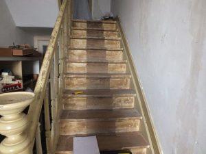 Cet escalier est peint avec de la peinture au plomb