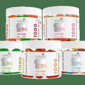 cbd cbg gummies, cbd cbg edibles, cbd cbg gummy bears, cbg gummies, cbd edibles, kurativ, cbd / cbg products, zero thc, 1000mg, 1000 mg, cbg edibles