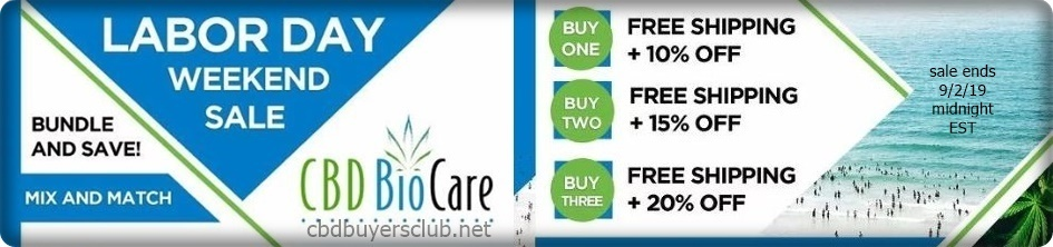 cbd biocare labor day sale