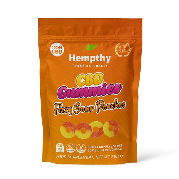 cbd candy uk - sour peach rings 300mg CBD